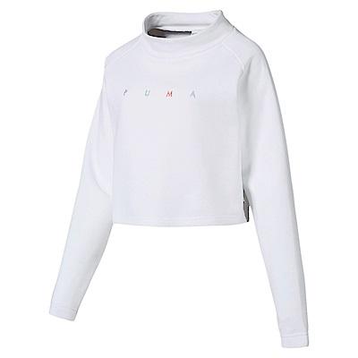 PUMA-女性流行系列Fierce Cat短版圓領衫-白色-亞規