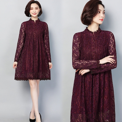 【韓國K.W.】個性復古蕾絲洋裝