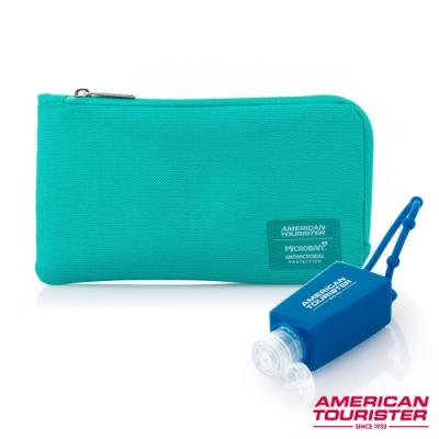 (三色任選)AT美國旅行者 抑菌收納組 可收納口罩 抑菌科技減少表面99%細菌滋生