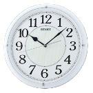 SEIKO 日本精工 滑動式秒針 靜音掛鐘(QXA734W)-白/31cm