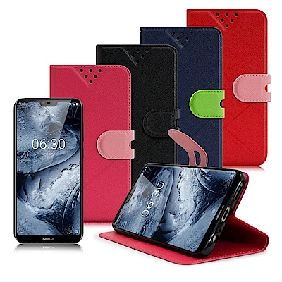 NISDA For Nokia 6.1 Plus 風格磨砂側翻支架皮套