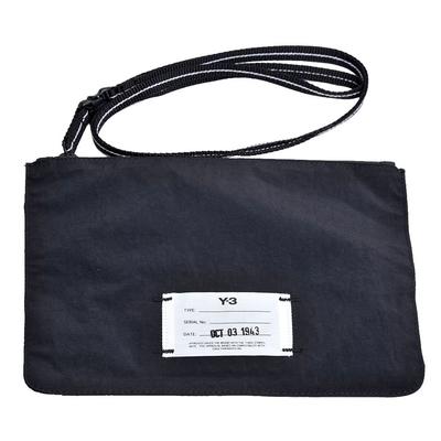 Y-3 POUCH DZ0800 品牌白布標Logo山本耀司手拿/斜背機能包(黑色)