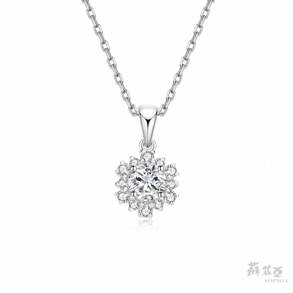 SOPHIA 蘇菲亞珠寶 - 花火 0.30克拉 18K白金 鑽石項鍊