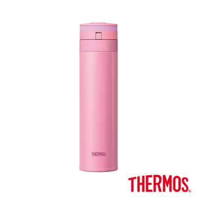 THERMOS膳魔師 超輕量自動上鎖 不鏽鋼真空保溫瓶0.45L(JNS-450-P)