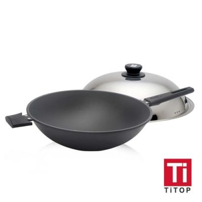 TiTOP 鈦極合金不沾鍋 附鍋蓋 36公分