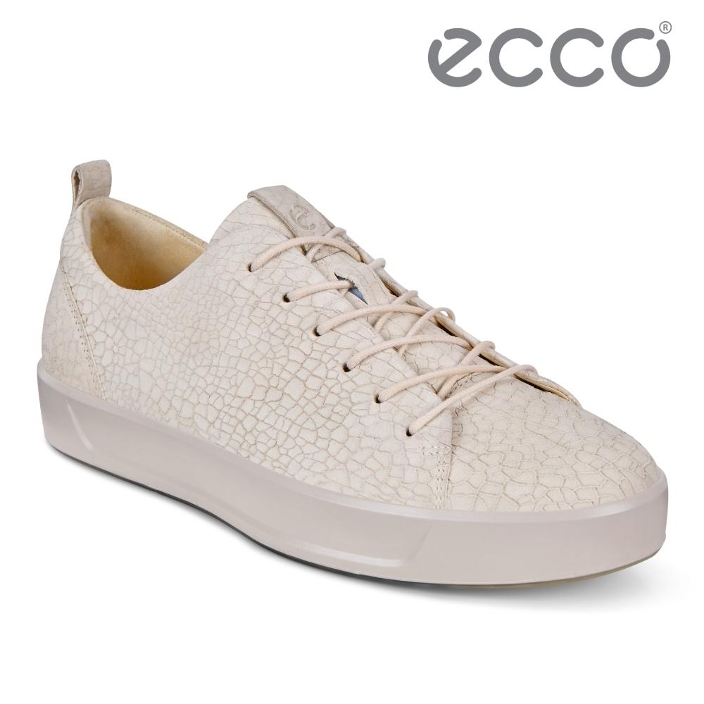 ECCO SOFT 8 W 簡約休閒鞋 女鞋-米白