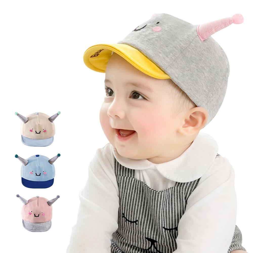 colorland童帽 笑臉鴨舌帽遮陽帽 帽球帽