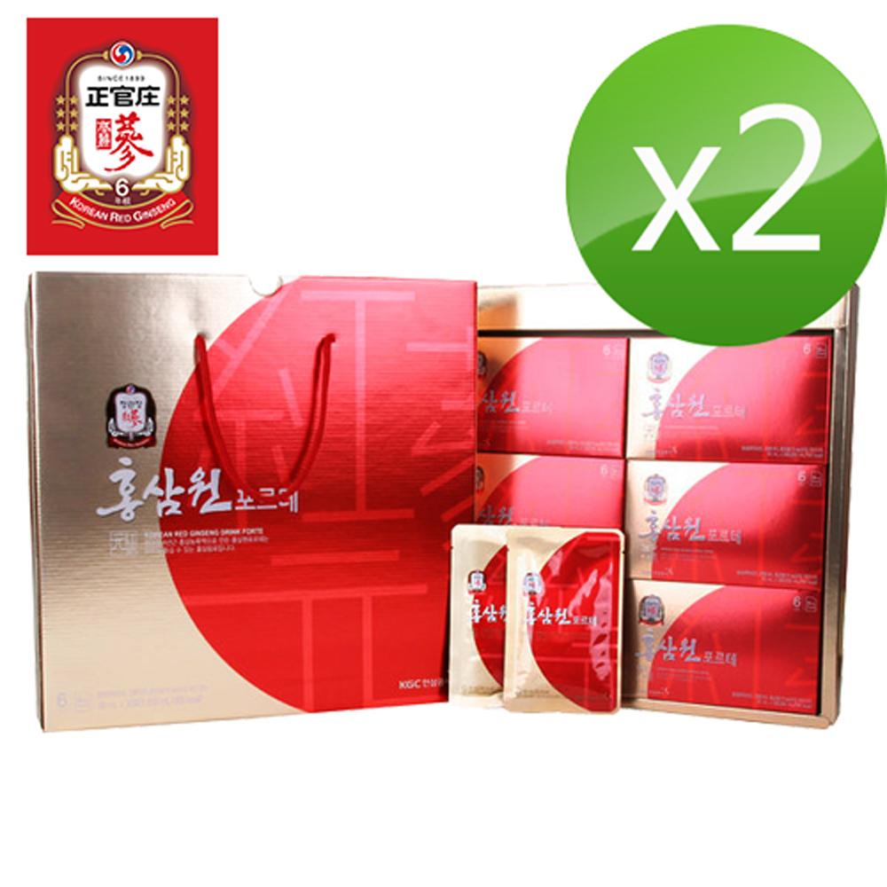 正官庄高麗蔘元Forte 禮盒(50mlx30包)*2加贈正官庄保溫杯 @ Y!購物
