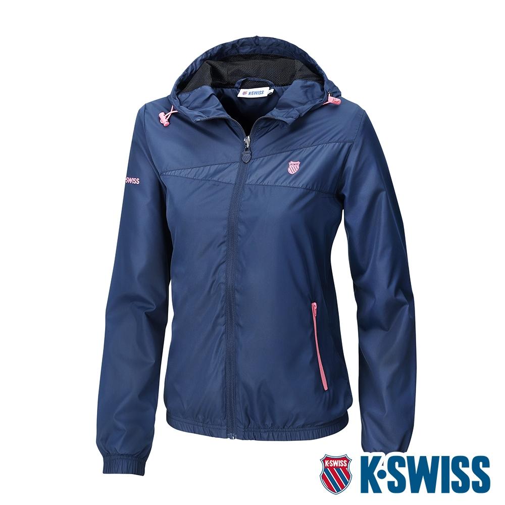 K-SWISS BS SOLID JACKET 2風衣外套-女-深藍