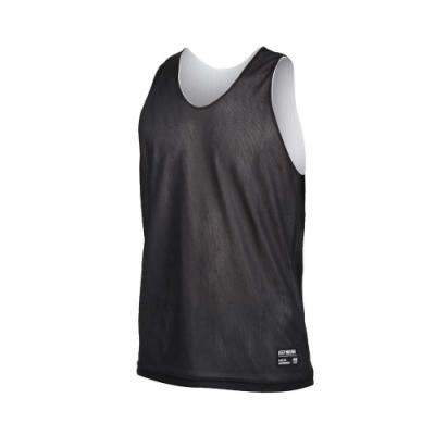 FIRESTAR 男雙面訓練籃球背心-球衣 無袖上衣 運動 吸濕排汗 台灣製 B1707-15 黑白