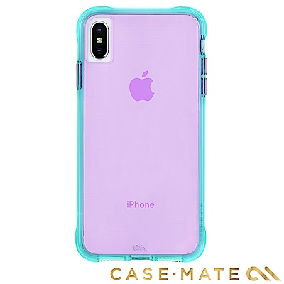 美國 Case-Mate iPhone XS Max Tough Neon 霓虹-藍綠/紫