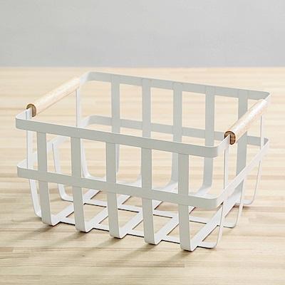 澄境 圓角簍空雜物收納手提籃(2入)