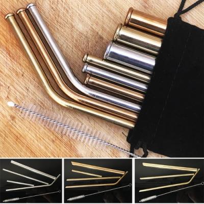 Ezlife 316不鏽鋼防刮舌吸管11入組(贈調光造型燈)