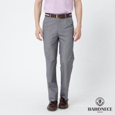 BARONECE 百諾禮士休閒商務  男裝 舒適暗格平口休閒長褲-灰色(1188886-95)