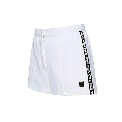 FILA #漢城企劃 女款針織短褲-白 5SHT-1423-WT