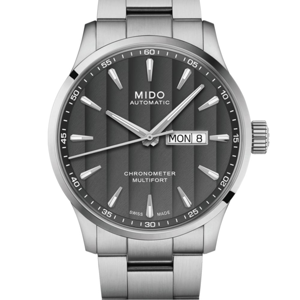 MIDO 美度 MULTIFORT先鋒80系列 天文台腕錶-灰42mm
