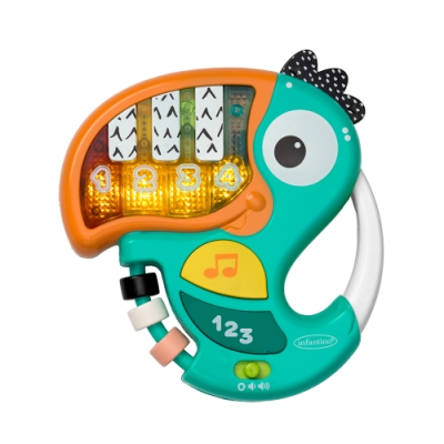 美國 Infantino 大嘴鳥可愛數字音樂鋼琴學習玩具