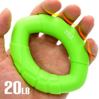 20LB橢圓握力器  矽膠握力圈  握力環