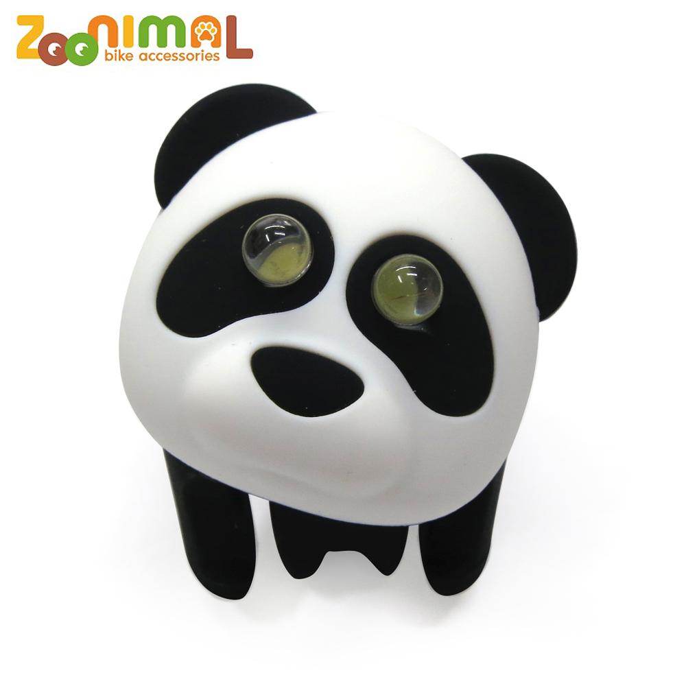 ZOONIMAL 無毒材質可愛動物LED公仔單車用前燈-黑輪熊貓