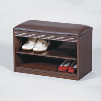 AS-莫爾胡桃色2尺座鞋櫃-60x30x40cm