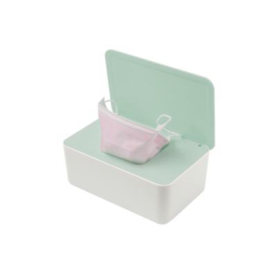 掀蓋式口罩收納盒 口罩收納盒 收納盒 置物盒 防塵盒 面紙盒 紙巾盒 衛生紙盒 加大版