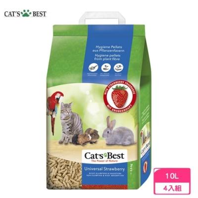 德國凱優Cat′s Best-草莓味粗顆粒 10L/5.5kg 四包組