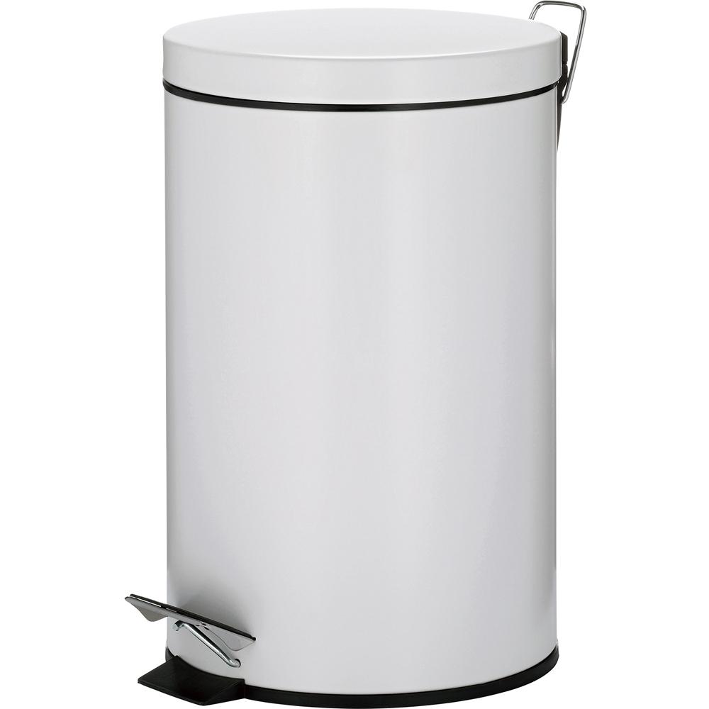 《KELA》Malta腳踏式垃圾桶(白12L)