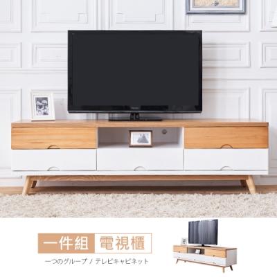 時尚屋 芬蘭6尺電視櫃 寬182x深46x高52cm