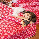 戀家小舖 / 雙人加大床包兩用毯組  糖心女孩  頂級搖粒絨  台灣製