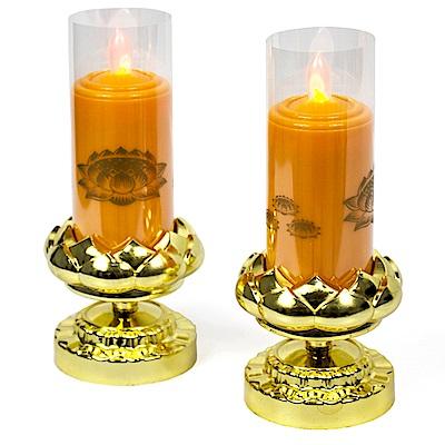 AYAPU 悅亞普插電式環保安全電子蠟燭 -VX-CL938AC-橘