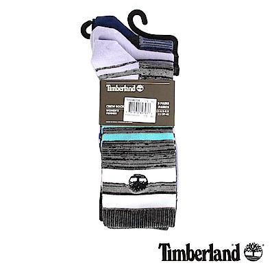 Timberland 女款紫色3入不規則條紋襪