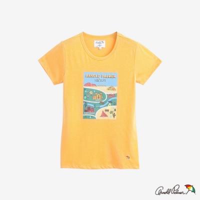 Arnold Palmer-女裝-地圖LOGOT恤-黃