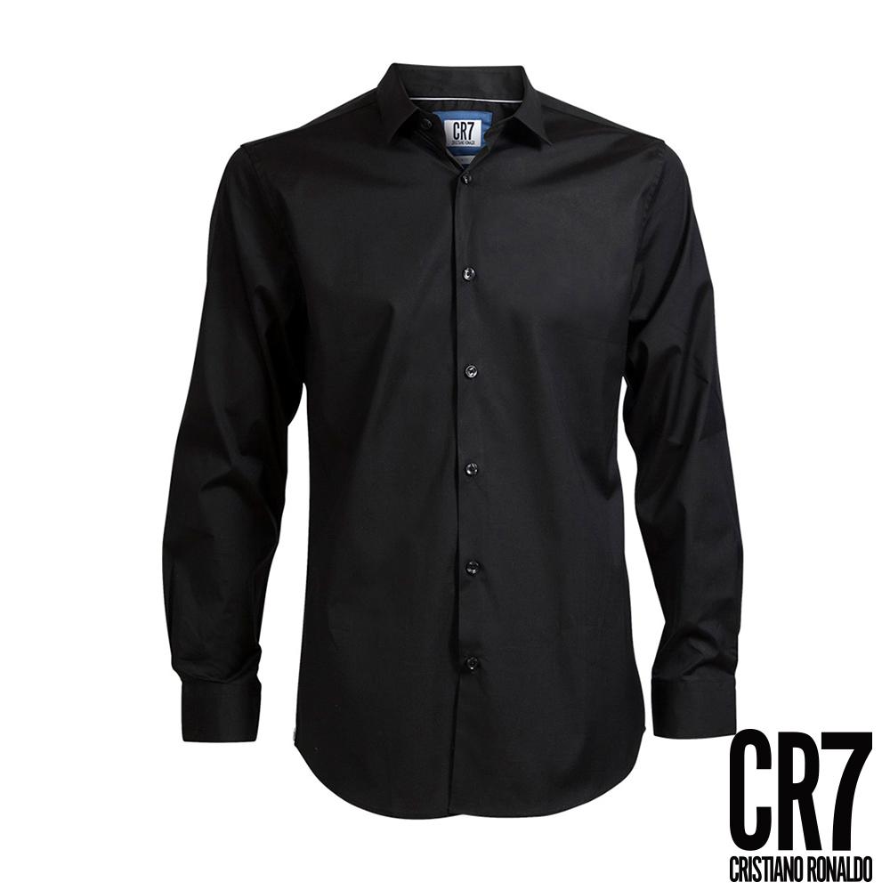 CR7-Slim Fit 黑色標準立領襯衫(8600-7200-301)