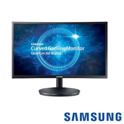 [無卡分期12期] SAMSUNG C24FG70FQE 24型 VA曲面電腦螢幕