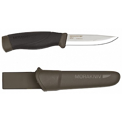 MORAKNIV COMPANION HEAVY DUTY 高碳鋼強力直刀 軍綠
