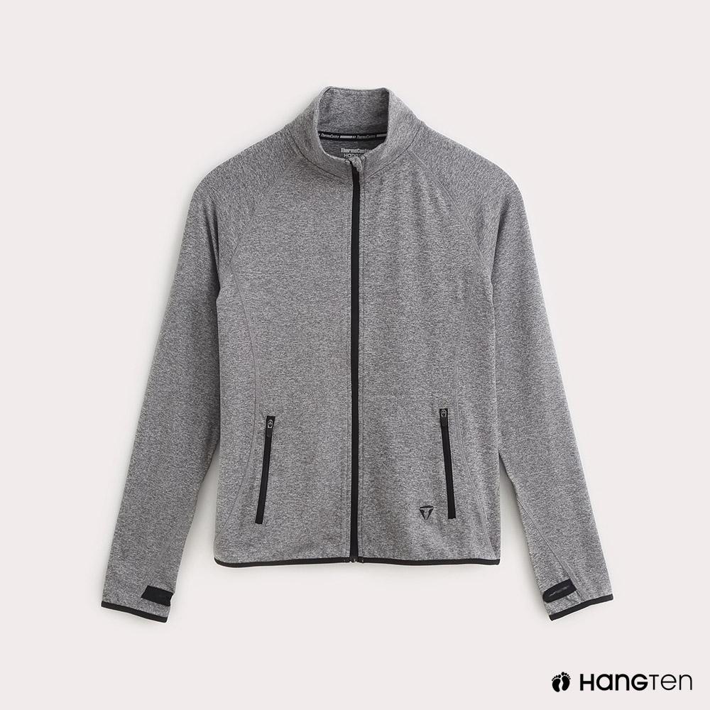 Hang Ten-ThermoContro-女裝拇指扣機能立領外套-灰