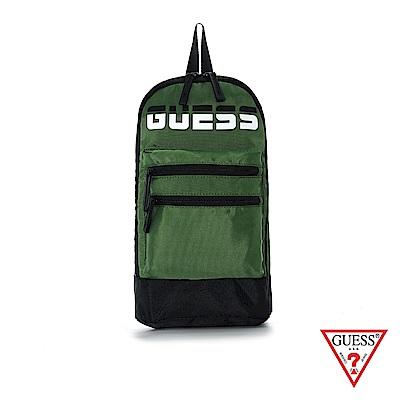 GUESS-男包-時尚撞色LOGO簡約單肩包-軍綠 原價1590