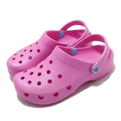 Skechers 休閒鞋 Heart Charmer 洞洞鞋 童鞋 愛心 下雨必備 好穿脫 透氣 中大童 粉 藍 308000LPNK