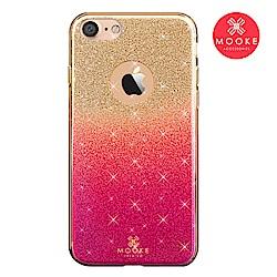 Mooke iPhone 7/8 璀璨琉璃保護殼-櫻桃紅