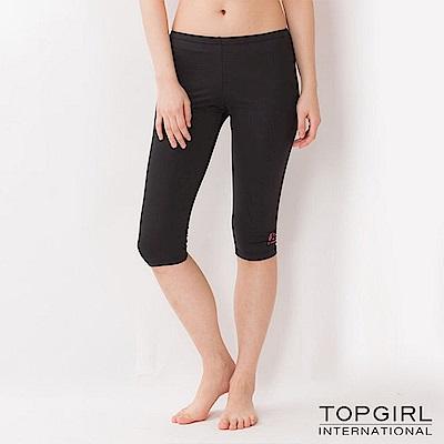 【TOP GIRL】韻律緊身七分褲 - 黑色