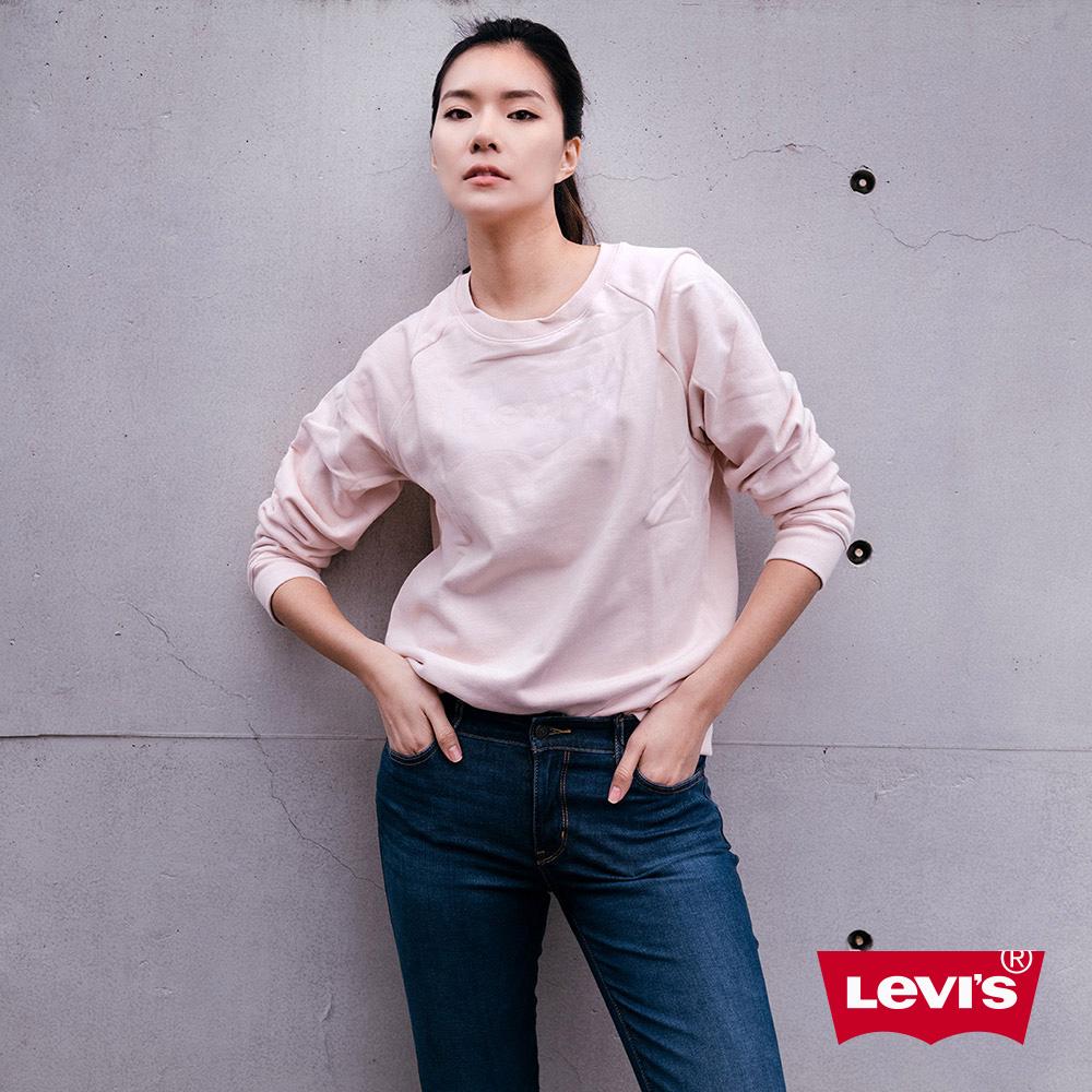 Levis 女款 711 中腰緊身窄管牛仔褲 四向彈性延展 湛藍刷色