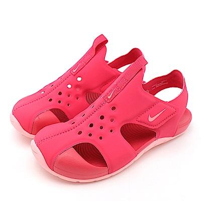 NIKE-SUNRAY PROTECT 2中童涼鞋-紅