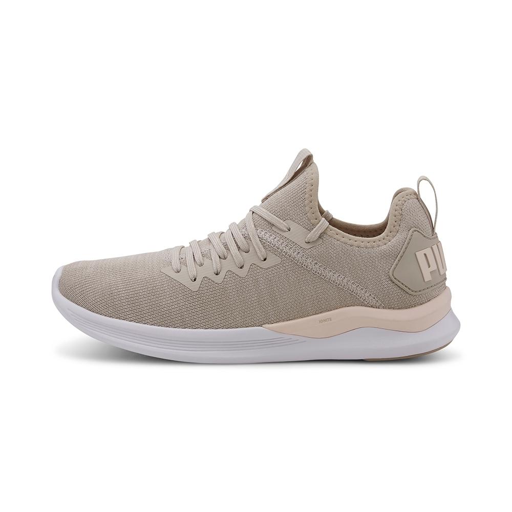 PUMA-IGNITE Flash evoKNIT Wn's 女性慢跑運動鞋-輕雲灰