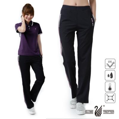【遊遍天下】MIT女款抗UV涼爽速乾彈性長褲GP1010黑色