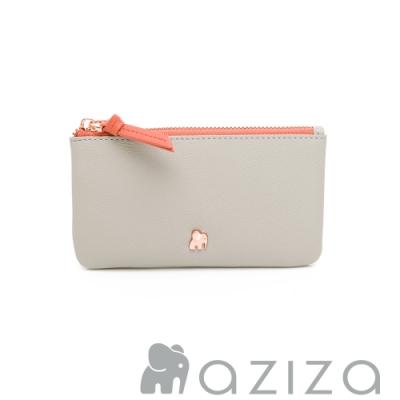 aziza 鑰匙零錢包 -小象灰