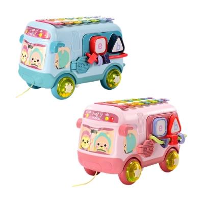 colorland寶寶巴士玩具車 兒童玩具七彩敲琴