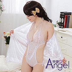 Angel天使 花邊性感和服風睡衣 BP081 白