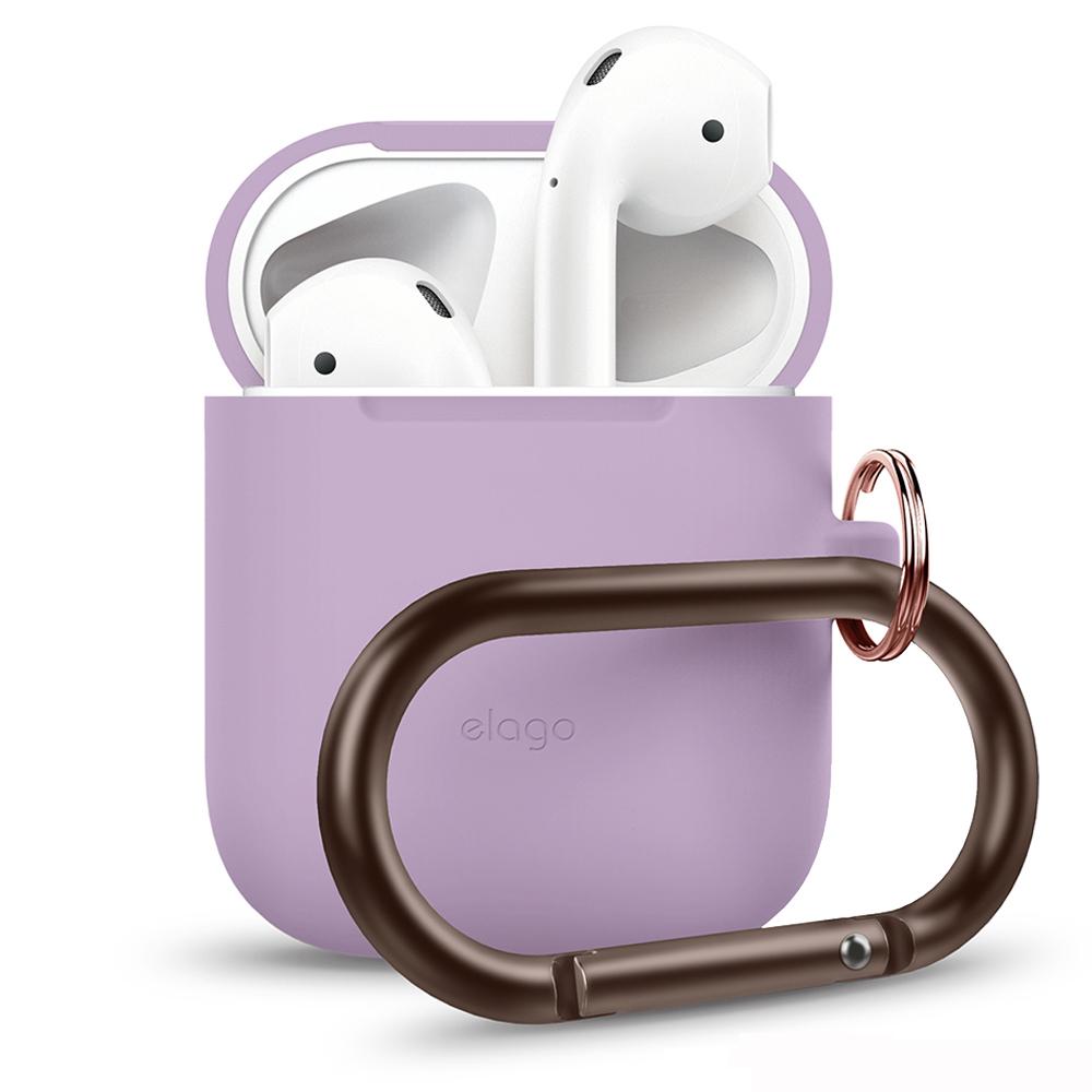 elago AirPods隨身扣環保護套 - 紫色