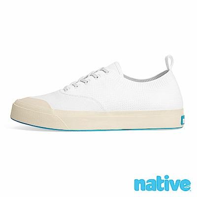 native JEFFERSON 輕織男/女鞋-貝殼白x牛奶骨