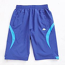KAPPA義大利男吸濕排汗速乾3D單層半短褲 藍